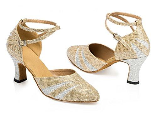 TDA ,  Damen Knöchel-Riemchen 7cm Heel Gold
