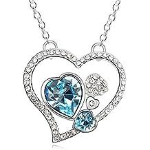 Estilo Simple del collar de cristal austriaco lindo collar de cristal