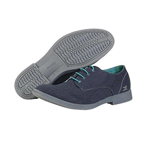 Dude Shoes Mens Volterra Stretch Navy Derby Shoe Azul - azul