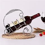Dieser Flaschenhalter ist das perfekte Zubehör für die Aufbewahrung von Flaschen - Stapelbarer Flaschenhalter ideal für Weinflaschen - Europäischer Wein Wein Dekoration - Rattan Eisendraht Flaschenhalter, Silber