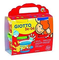 Idea Regalo - Fila CF 4 Bar 150Ml Giotto Bebe' Dita Contiene Grembiulino Tempere Artistiche 352,, 8000825006371