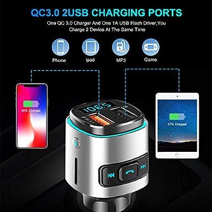 Laxstory-FM-Transmitter-Auto-Bluetooth-Radio-Adapter-Freisprecheinrichtung-mit-QC30-Dual-USB-Ladegert-fr-IOS-Android