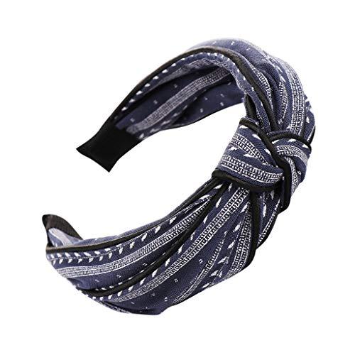 YWLINK Mode Knoten Haarband Frauen Kopfband Süß MäDchen Klassisch Breit Waschen Haarband (A Marine, Einheitsgröße) (Hello Kitty-frauen-hut)