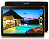 Android 8.1 Tablet 10 Zoll Dual-SIM,4GB RAM 64GB Speicher Octa Core CPU,1920 * 1200 Full HD IPS Touchscreen,Dual Kamera 3MP und 8MP, WiFi/WLAN/Bluetooth/GPS TYD-107(Rieb Schwarz)