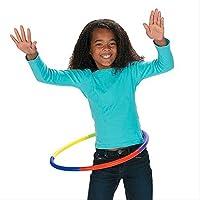 Switty Hula Hoop - Juego de 8 accesorios de plástico para ejercicios de aeróbico para niños, 27 cm