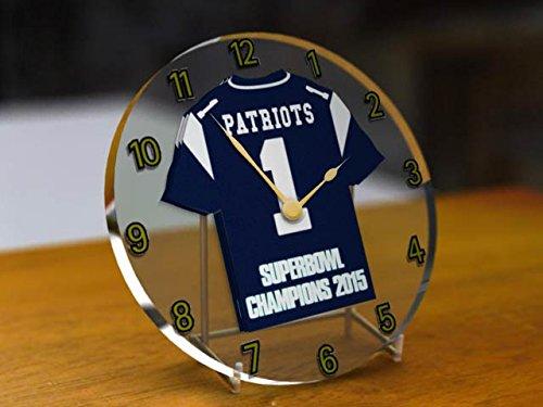 NEW ENGLAND PATRIOTS NFL-FOOTBALL AMERICANO WORLD CHAMPIONS COMMEMORATIVE-OROLOGIO DA TAVOLO, SUPERBOWL WINNERS