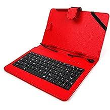 """DURAGADGET Custodia / Tastiera Rossa Per Tablet Di 7"""" - Connessione microUSB + Pennino Capacitivo - 2 Anni Di Garanzia - Alta Qualità"""