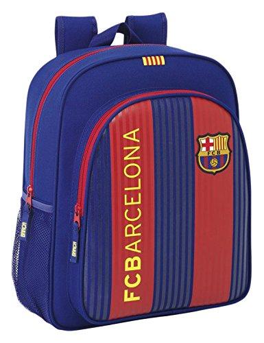 FC Barcelona Mochila Escolar, 38 cm, Azul / Granate