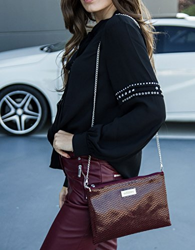 Burgundy hand bag by Gioseppo Maroon