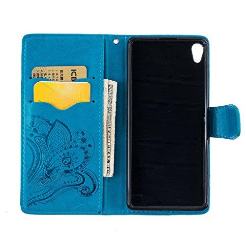 Samsung Galaxy J52016modello, custodia Samsung Galaxy J510, con protezione per lo schermo in vetro temperato] antigraffio, fatcatparadise (TM) Custodia posteriore in silicone morbido, elegante vinta Blue