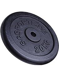ScSPORTS - Pesa en forma de disco para halteras (15 kg, hierro fundido)