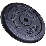 ScSPORTS 40 kg Hantelscheiben-Set Gusseisen 2 x 20 kg Gewichte