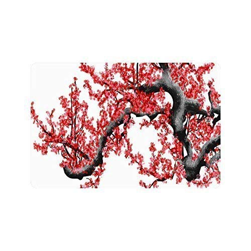 Wdskbg Cherry Blossom Doormat Entrance Mat Floor Mat Rug Indoor/Outdoor/Front Door/Bathroom Mats Rubber Non Slip (L23.6