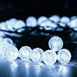 iihome, 36ft(11M) 60 LED String Outdoor IP65 Waterproof Solar Powered Crystal Ball Decorative Lighting 8 Modes for… 9