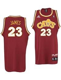 adidas Cleveland Cavaliers   23 Lebron James Vino CAV Fanatic Swingman  Pallone da Basket d4b90f0f8edf