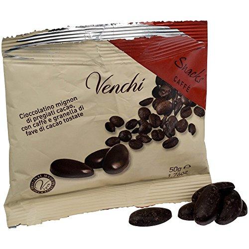 Venchi - Chocolats Snacks Caffé au chocolat noir - éclats de cacao grillés/café moulu - 50 g