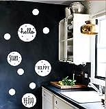 HCCY Skandinavischen Stil geometrischen Kreis Grafiken kombiniert Küche-Wohnzimmer Wandaufkleber Kinderzimmer Schlafzimmer Nachtwandaufkleber personalisierte Mode, weiß, mittel