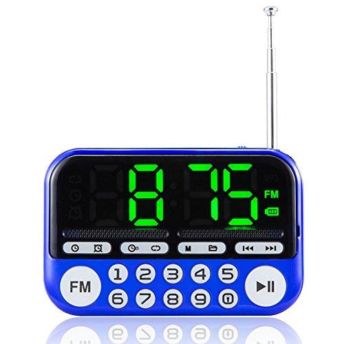 Inovey Portable Lautsprecher Im Freien Tanzen Lautsprecher TF Karte USB FM Radio Musik Surround Mp3-Player Großen Knopf Leuchtenden Wecker - Blau (Blau Hat Radio)