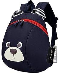 Idea Regalo - Zainetti Per Bambini Asilo Nido Asilo Preschool Cane Orso Animal Anti Perdita Cinghia Blu Ragazzo