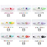 CALISTOUK 1pc Colourful Stationery Push Correction Tape Lace Key Tags Sign Color01#