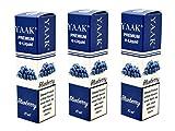 YAAK® Premium E-Liquid / Liquid 3 x 10 ml Blaubeere ohne Nikotin / E-Zigaretten, Elektrische-Zigarette, E-Shisha / Geschmacksaroma Blueberry