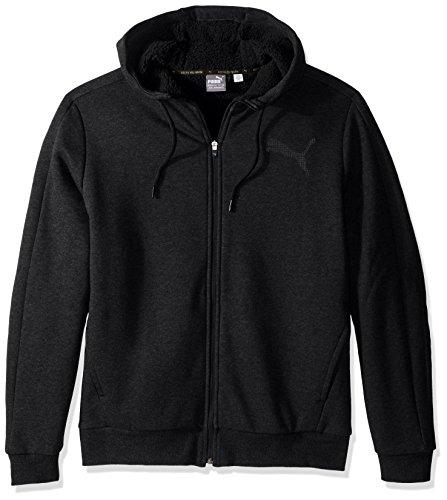 PUMA Men's Sherpa Full Zip Hoody, Cotton Black, Medium (Full Zip Hoodie Sherpa)