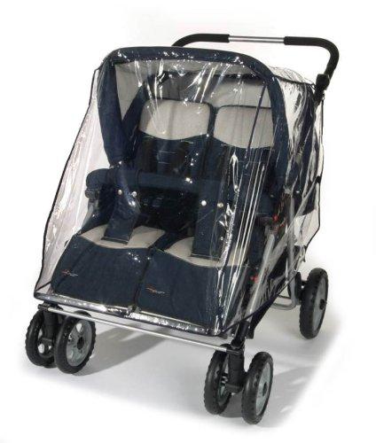 Reer PEVA Regenschutz für Zwillingswagen