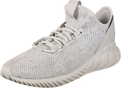 adidas Herren Tubular Doom Sock Primeknit Gymnastikschuhe, Grau (Grey Two F17/Ftwr White/Hi-RES Blue S18), 44 2/3 EU (Cut-spitze Blue-hi)