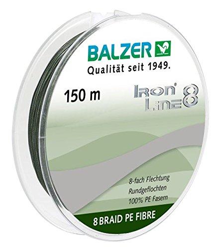 Balzer Iron Line 8 Schnur 0.21mm 150m grün