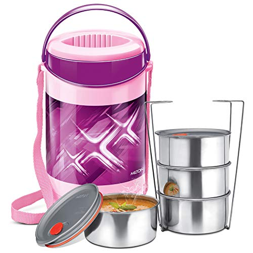 Milton Econa Deluxe 4 Lunch Box,  4 Container , Purple