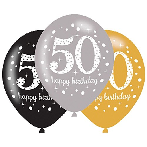 Large 21-Inch Celebration 50 Happy Birthday Latex Balloons