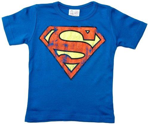 Logoshirt Jungen T-Shirt Superman logo, Gr. 2-3 Jahre, Blau (Azure Bleu)