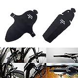 Shsyue®1 Set Schwarz Vorne Hinten Fahrrad Schutzblech Kotflügel für 20,24,26,28 Zoll Fahrräder MTB