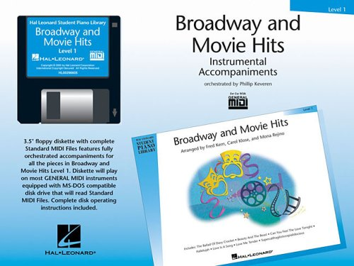 Hal Leonard Student Piano Library: Broadway And Movie Hits Level 1 (GM Disk): Diskette, MIDI-Datei für Klavier