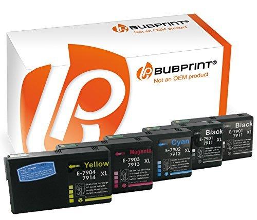 Bubprint 5 Druckerpatronen kompatibel für Epson 79XL 79 XL für WorkForce Pro WF 4630 WF-4630 DWF 4640 DTWF 5110 DW 5190 5620 WF-5620DWF 5690 Multipack (Workforce 4630 Drucker Epson Pro)