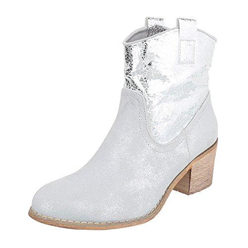Ital-Design , Bottes et bottines cowboy femme Silber