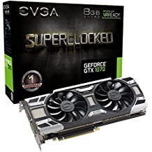 EVGA GeForce GTX 1070 SC GAMING ACX 3.0, 8GB GDDR5, LED, DX12 OSD Support (PXOC) Graphics Card 08G-P4-6173-KR