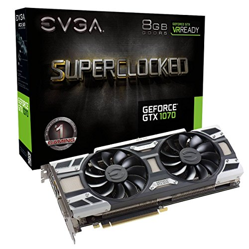 EVGA GeForce GTX 1070 SC GAMING ACX 3.0, 8GB GDDR5, LED, DX12 OSD SUPPORT (PXOC) Grafikkarte 08G-P4-6173-KR (200 Geforce)