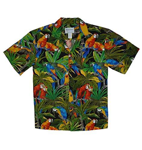 Camisa hombre manga corta loros en 2020 | Camisa hawaiana