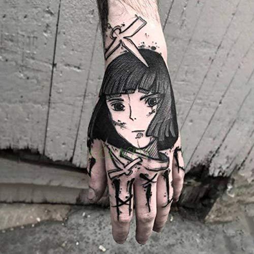 tzxdbh Wasserdicht Tattoo - Aufkleber Rosen - Blumen - Hand Art Tatoo Tattoos für Frauen Männer in Tattoo von Brown