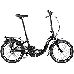 Ciao i3Dahon plegable bicicletas, color negro, tamaño unisex