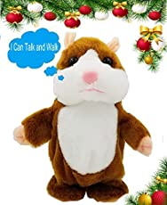Upgrade version Talking Hamster mouse toy - Repeats What You Say and Can walking - Electronic Pet Talking Plush Buddy Hamster Mouse for Child Kids gift Party Toys by SINYUM