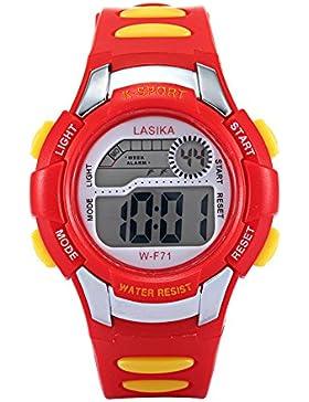 W-F71 Armbanduhr - Lasika Kind Kind Schwimmen Sport Digital Armbanduhr w-F71 30M wasserdichte (rot)