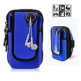 fulozo Outdoor Sport Brazalete Funda multifuncional brazo doble pulsera de encuadernación, Running para iPhone X/8/8Plus/7/7Plus/6/6Plus/6S/5/5s/SE, Galaxy S8/S7/S7Edge/S6/S5/J7/J5/A7y todos los No más grande 6pulgadas Dispositivo. Android brazalete deportivo Teléfono Móvil Universal Para Correr, Entrenamiento, jinete y fitness, azul oscuro