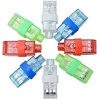 PovKeever - Luces LED de dedo, 100 unidades, luz de dedo muy brillante, colores variados, para fiestas, accesorios