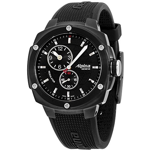 Alpina Avalanche Extreme Black Dial Silicone Strap Men's Watch AL650LBBB3FBAE6