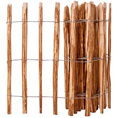 Zora Walter clôture en bois de noisetier 90 x 500 cm clôture jardin barrières extérieures clôture bois Accessoires clôture Kit Clôture extérieur