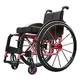 IOFESINK Walker Chair Wheelchair Tipo di Sport Sedie a rotelle Carrello per Sedie a Rotelle Propulsore Pieghevole Portatile in Alluminio Leggero Sedile ergonomico Cuscinetto di carico 100 kg