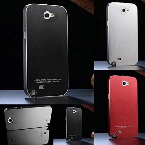D9Q Ultra dünnen Aluminium-Gehäuse Cover Luxus RS Metallschränke decken Ersatz Akku Tasche Case Hülle Etui Schutzhülle Cover für Samsung Galaxy Note 2 II N7100 !D
