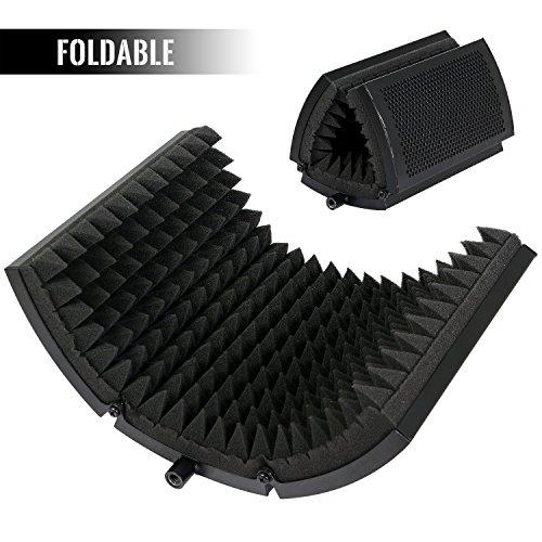 Tonor Mikrofon Pop Filter mit absorbierender Schaumschicht, Faltbar schallabsorbierend...